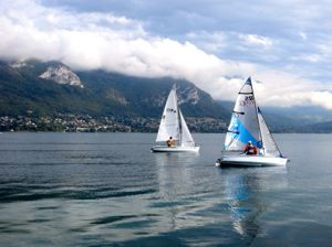Annecy sailboats, France