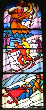 Stained glass, Chamonix, France