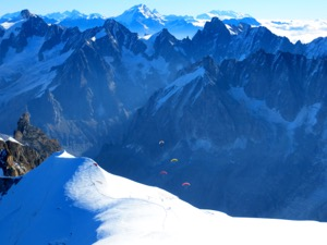 View from Aiguille du Midi, France