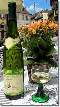 Riesling wine, Alsace, France