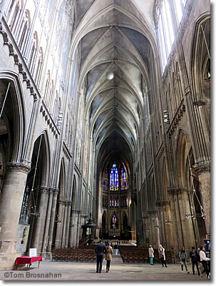 Nave of Metz Cathedral, France