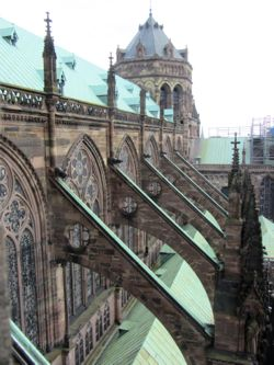 Flying buttresses, Strasbourg Cathedral, France