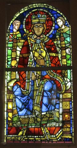 King in Majesty, Stained Glass, Strasbourg, France