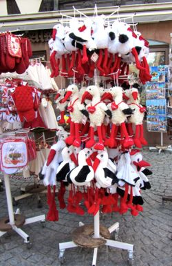 Stuffed storks, Strasbourg, France