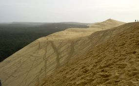 Looking across the top of the Dune du Pilat, France