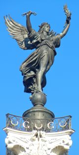 Statue representing liberty, Monument aux Girondins, Bordeaux