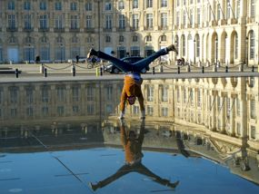 Fun at the Miroir d'Eau, Bordeaux