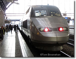 TGV locomotive at Gare St-Jean, Bordeaux, France