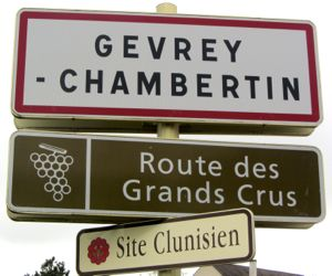 Gevrey-Chambertin sign, France