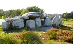Dolmen, Kermario Alignments, Carnac, France