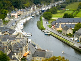 View of River Rance, Dinan, France