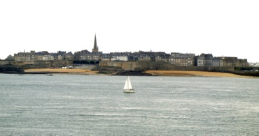 View of St-Malo from Dinard, Brittany, France