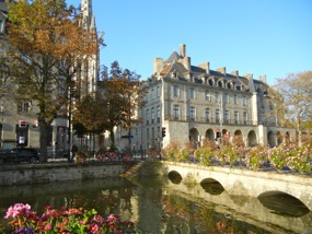 View across the Odet, Quimper, France