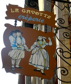 Creperie sign, Brittany, France