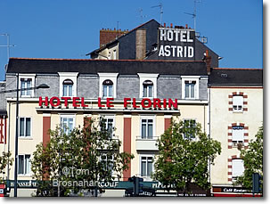 Hotels near the train station, Rennes, Brittany, France