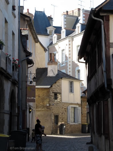 Street in Rennes, Brittany, France