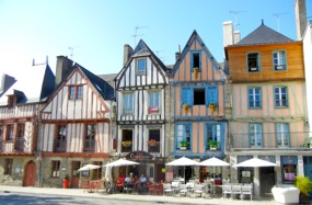 Half-timbered houses, Vannes, Brittany, France