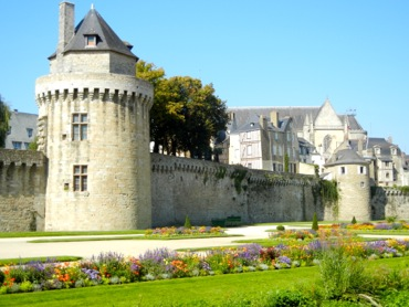 Ramparts and gardens, Vannes, France