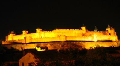 Carcassonne night, France