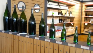 Champagne bottles, Epernay, France