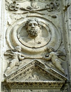 Detail, Mars Gate, Reims, France
