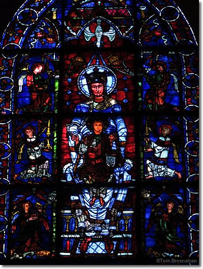 Blue Virgin Stained Glass Window Chartres Cathedral France