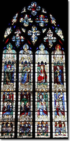 Gothic Stained Glass Window Chartres Cathedral France