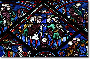 Stained Glass, Chartres, France