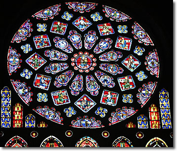 Stained Glass Rose Window Chartres France