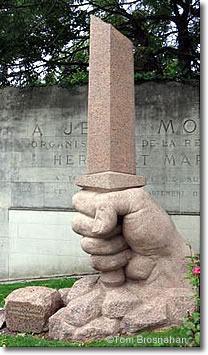 Monument to Jean Moulin & Resistance fighters, Chartres, France
