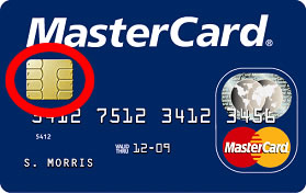 EMV computer chip credit card