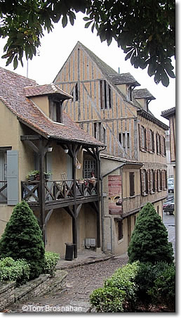 Historic houses in Bergerac, Dordogne, France