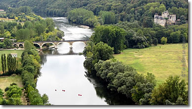 View of the Dordogne River from the château at Beynac, France