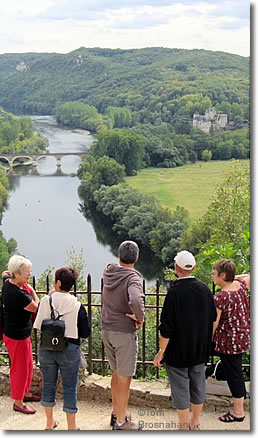 Panoramic view from the hilltop of Beynac, Dordogne, France