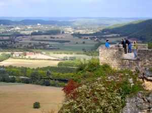 View of the Dordogne from Domme, France