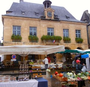 Market in Sarlat, Dordogne, France