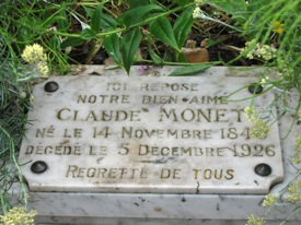 Monet's grave, Giverny, France