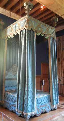 king's bed, Azay-le-Rideau, France