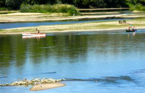 Canoers on the Loire, Tours, France