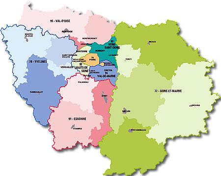 Régions & Départements of France