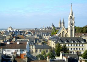 View of Caen from the Château, France