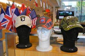 Hats, Airborne Museum, Ste-Mere-Eglise, France