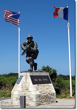 Monument Above Utah Beach Normandy France