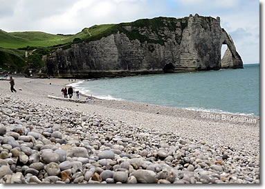 Shingle beach, Étretat, Normandy, France