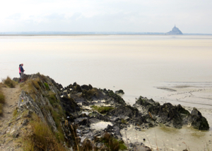 View of Bay of Mont St-Michel