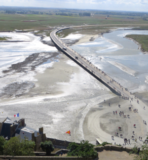 Approach to Mont St-Michel