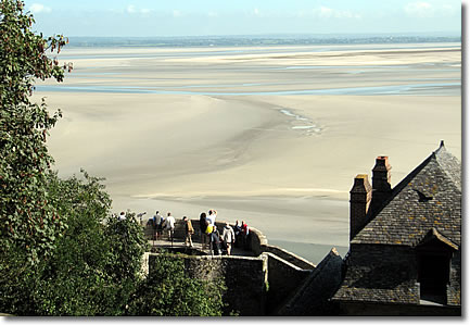 Low tide at Mont St-Michel, France