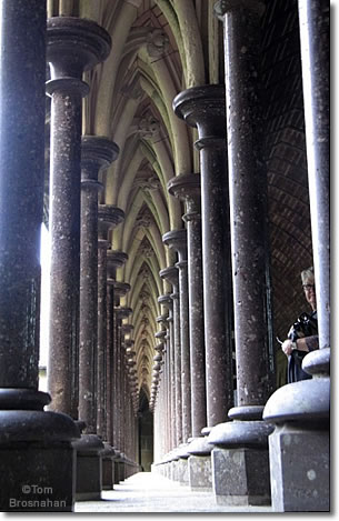 Abbey Arcade, Mont St-Michel, Normandy, France