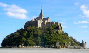 Mont-St-Michel from the back, Normandy, France