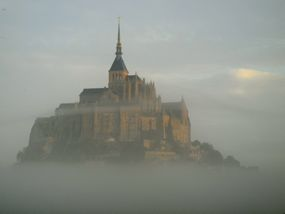 Early morning fog, Mont-St-Michel, France